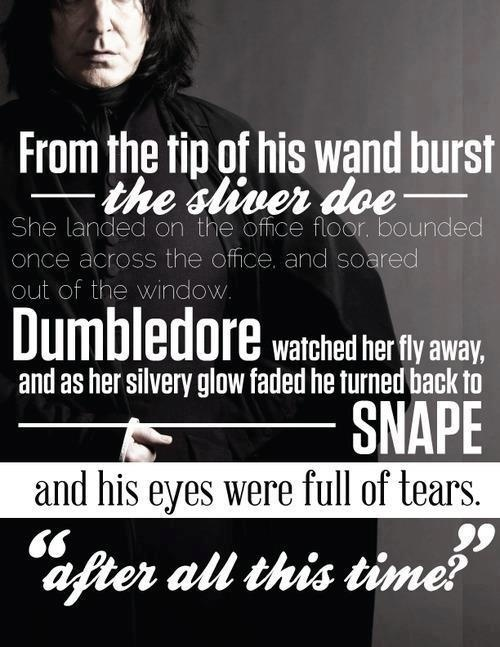 snape and harry relationship trust