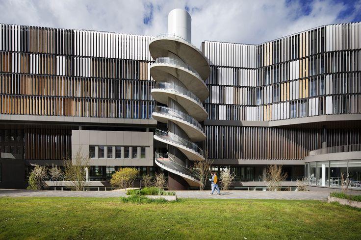 Le campus Jourdan architecte Thierry van de Wyngaert ( angle bld Jourdan et de la rue Tombe Issoire 14e) École normale supérieure et la Paris school of économies