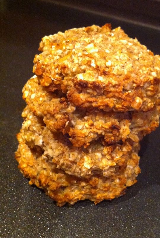 Yes I know, I'm a genius!   These are the most simple, easy, quick, NUTRITIOUS and tasty cookies EVER and they're perfect for breakfast. ...