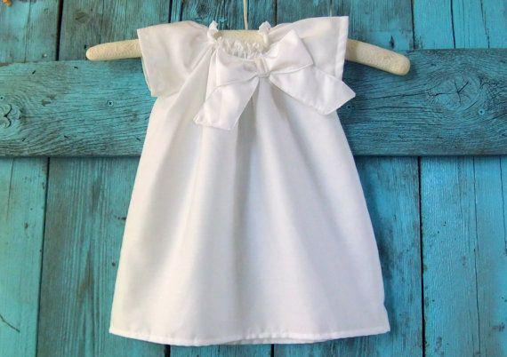Pure white baby baptism DRESS Egyptian by apricotsandlollipops, $36.49