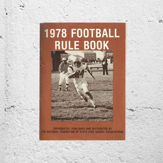 New in The Book Cottage: Football Gift for Him | 1970s Retro Sports Memorabilia | 1978 Football Rule Book by National Federation of State High School Associations by TheBookCottage
