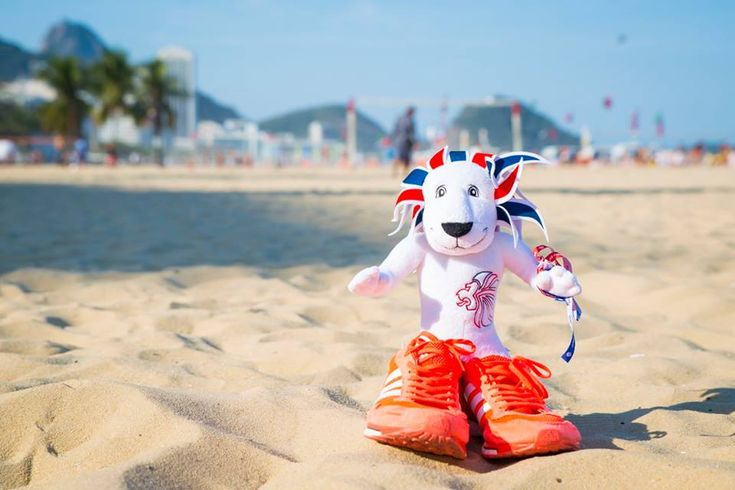 Pride the Lion catching some rays in Rio