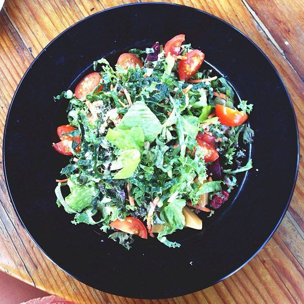 Rainbow Kale Salad with roasted beets, cherries, quinoa, avocado ...