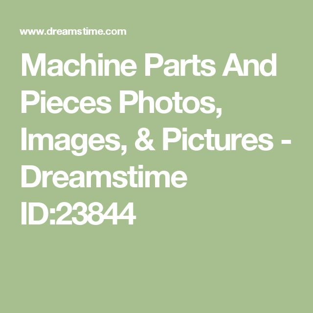 Machine Parts And Pieces Photos, Images, & Pictures - Dreamstime ID:23844