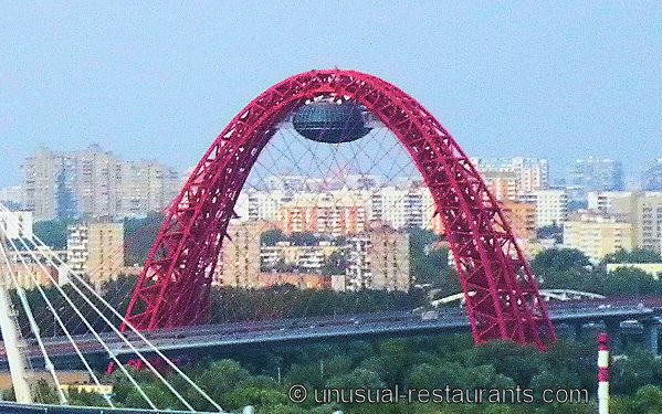 bridges in russia | Zhivopisny Bridge restaurant - Huge unfinished UFO-shaped restaurant ...
