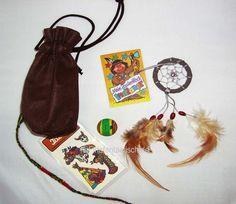 Indianer Medizinbeutel-Set 6tlg.