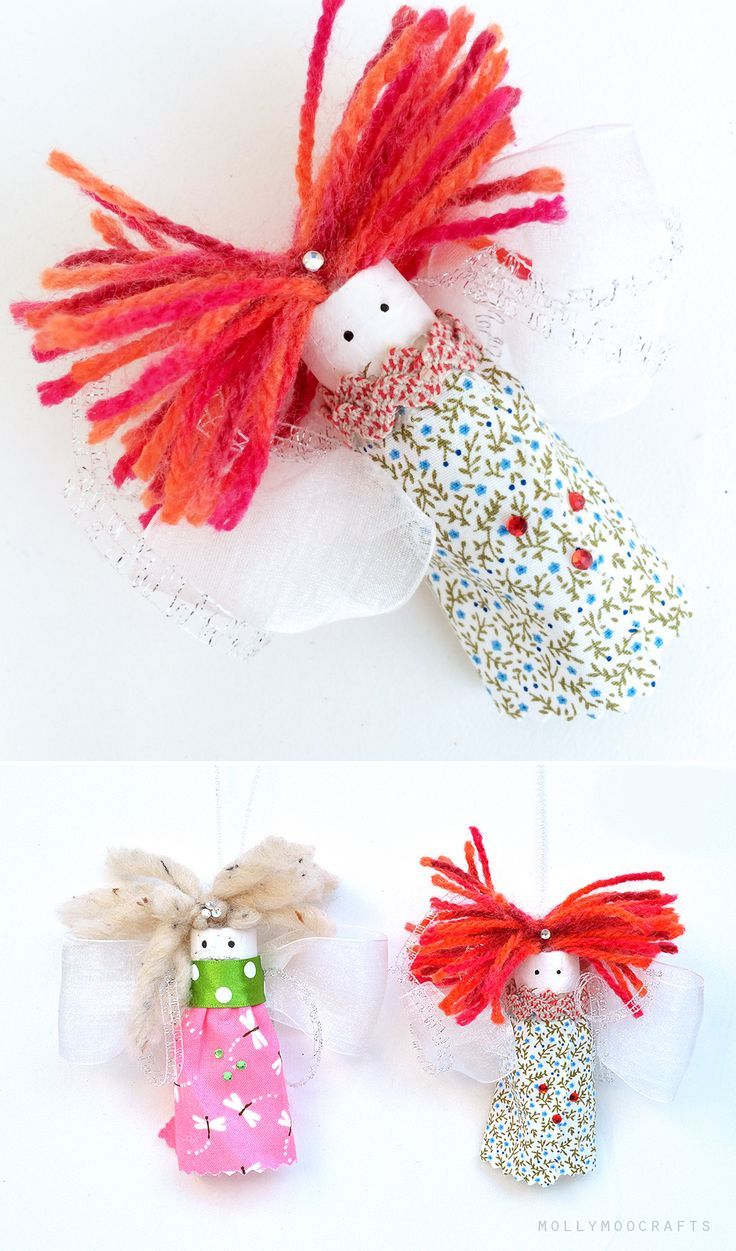 Wine Cork Fairies - turn wine corks into adorable easy-to-make pocket fairies | MollyMooCrafts.com