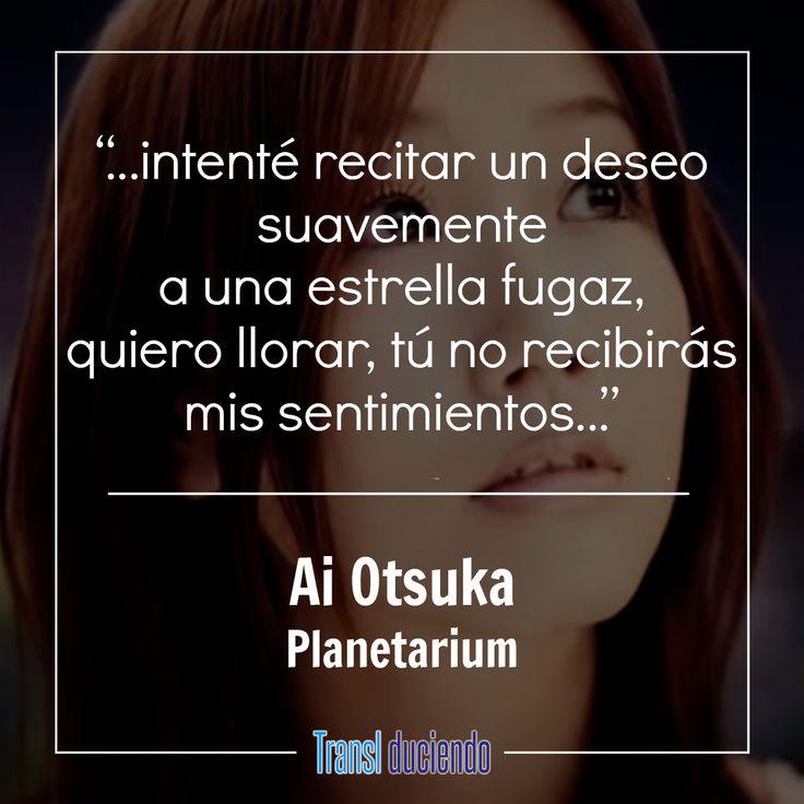 """¡Hola! Hoy traemos la traducción de """"Planetarium"""" gracias a la sugerencia de un lector. La canción es interpretada por Ai Otsuka, quien ha tenido una gran carrera en Japón. La letra que compartimos está llena de melancolía, es sobre una persona que trata de enviar sus sentimientos a través de estrellas fugaces a la persona que ama, que desafortunadamente ha fallecido. La traducción la puedes ver aquí:  https://goo.gl/jjZ1ZE #AiOtsuka #Planetarium #LoveCook #JPop #JMusic #HanaYoriDango #OST"""