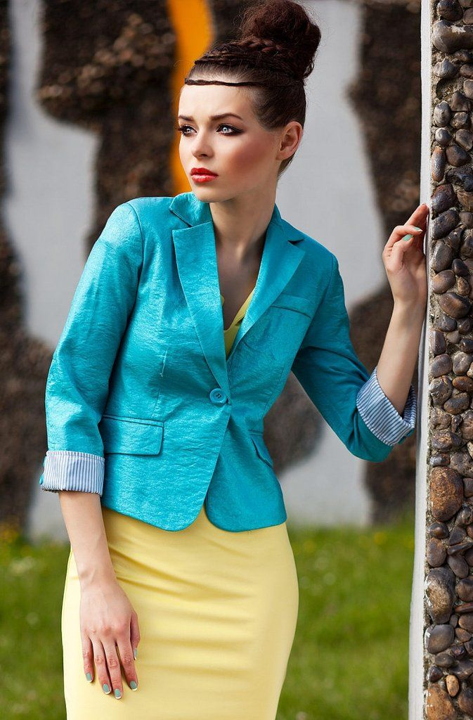 Jacket with lightly shimmering fabric