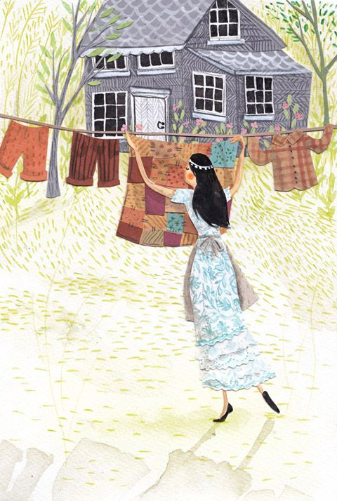 """Illustration by Emma Block - from the exhibition """"The Enchanted Forest"""""""