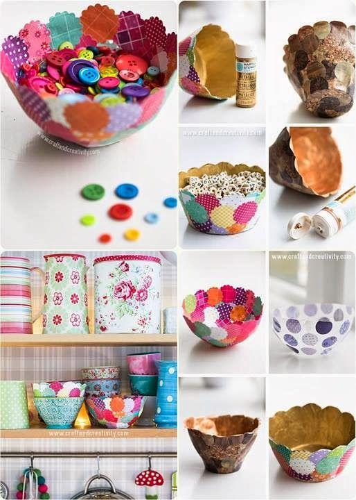 DIY Paper Bowls Tutorial