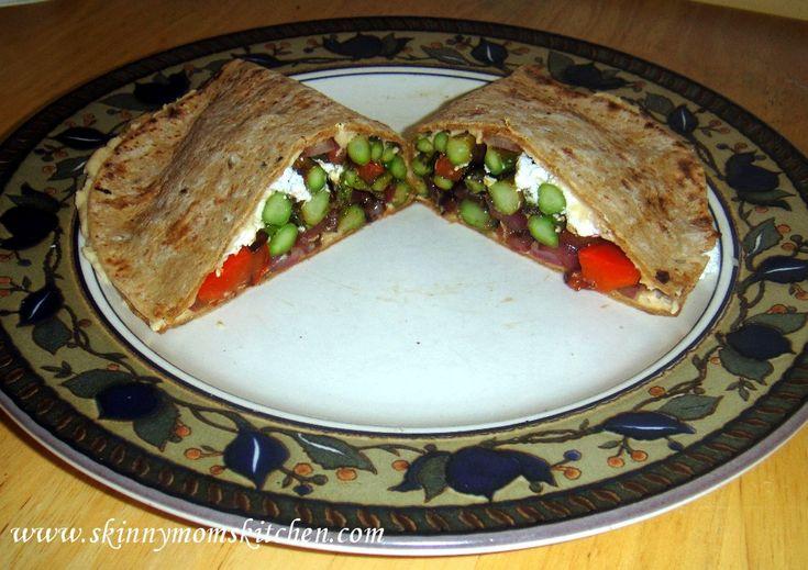 grilled balsamic vegetable hummus wrap