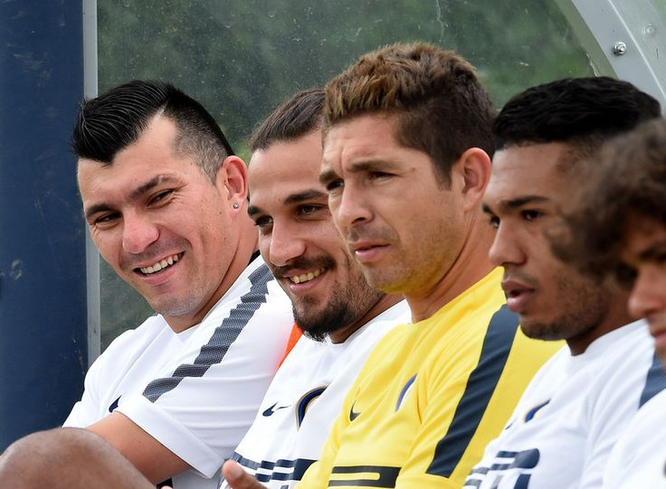 Gary Medel, Dani Osvaldo, Juan Pablo Carrizo, Juan Jesus, and Dodo - Inter Season 14/15