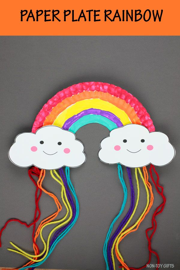 Paper Plate Rainbow Craft Easy Spring Craft For Kids Non Toy