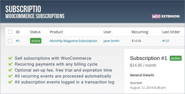 CodeCanyon - Subscriptio v1.0.6 - WooCommerce Subscriptions
