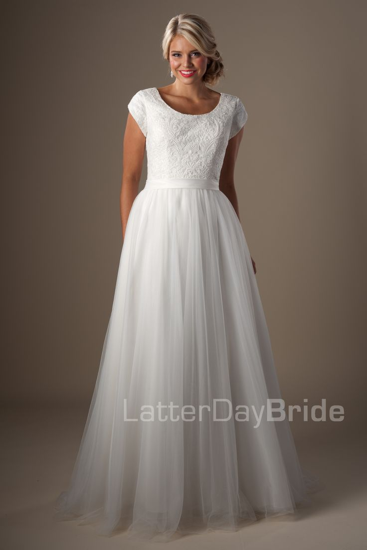 Lovely Modest Wedding Dresses Roslyn Available at Latterday Bride Go to our website to