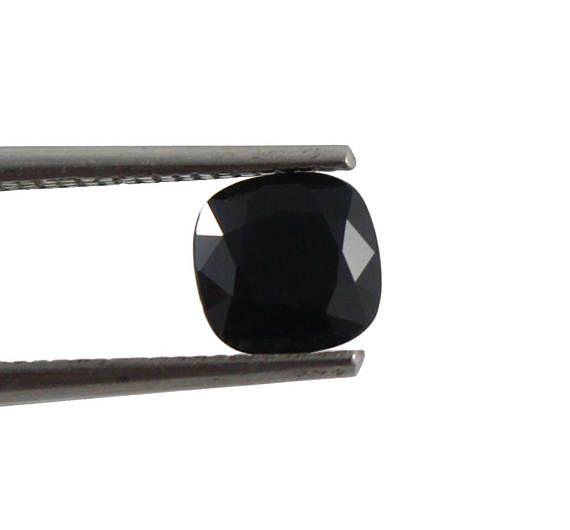 Australian Black Sapphire square cushion cut 1.43 carat loose