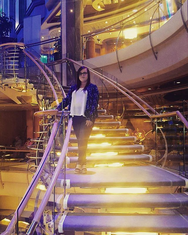 Look at me all majestically posing on the stairs of the Navigator of the seas🌊⛴ #pebblebeach #couplepic #instagood #instadaily #selfie #navigatoroftheseas #royalcarribean #norway #flamm #staircase #lights #beautiful #classy #travel #seetheworld #adventurer #happy #memories #like4like #l #followforfollow #montereylocals #pebblebeachlocals - posted by Lishaa https://www.instagram.com/lishaaawells - See more of Pebble Beach at http://pebblebeachlocals.com/