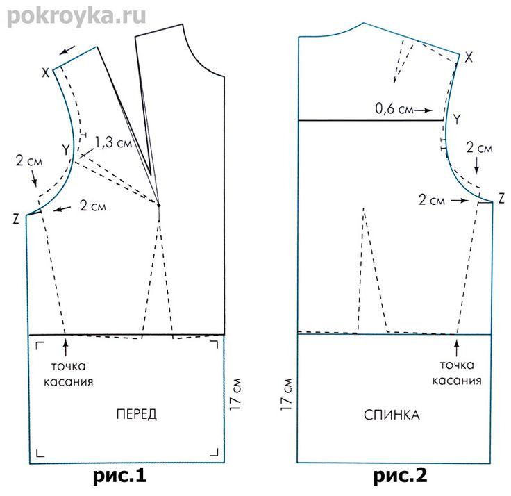 Выкройка основы блузки