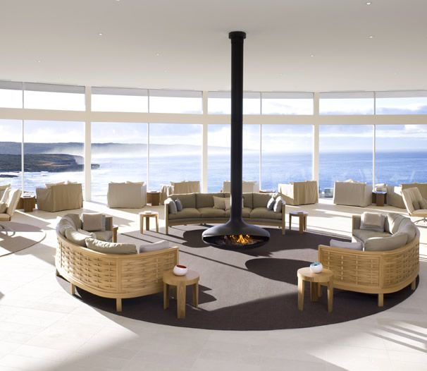 The Great Room at Southern Ocean Lodge. Imagine sitting here, waiting a LI'TYA spa treatment. Sigh.