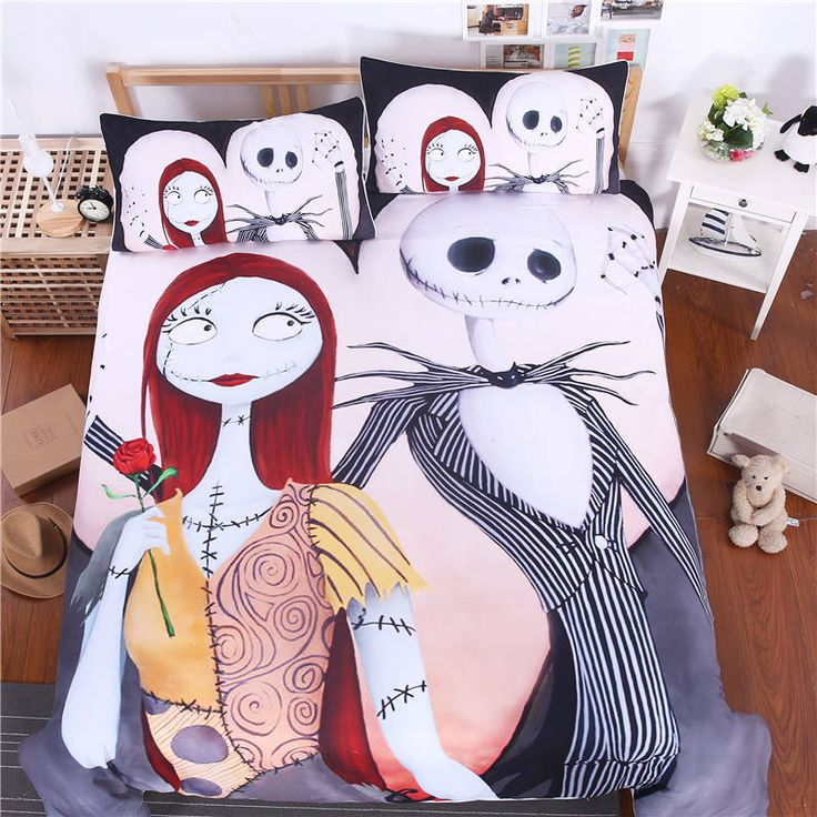 Bedding Set Nightmare Before Christmas Home Textiles for Lovers Sheet Twin Full Queen King 3Pcs Bedclothes #>=#>=#>=#>=#> Click on the pin to check out discount price, color, size, shipping, etc. Save and like it!