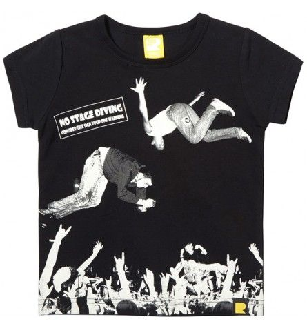 Mosh Pit Short Sleeve T-Shirt Black Rock Your Baby