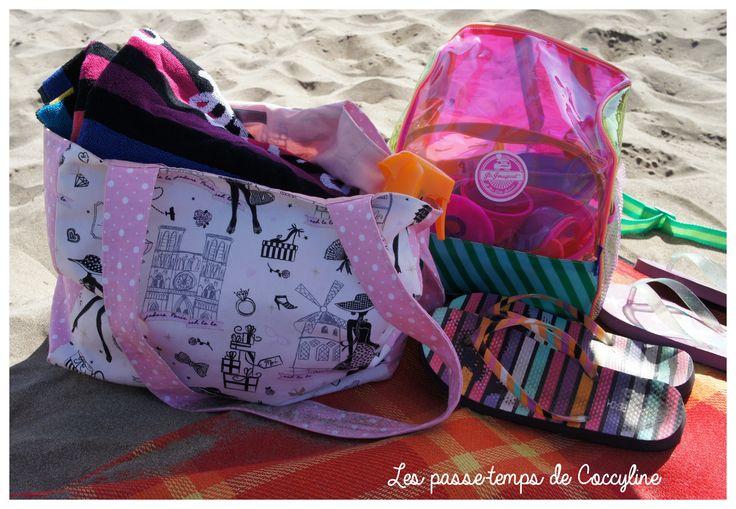 Sac cabas pour l'été très simple à réaliser. Idéal pour les débutantes. A faire en coton sergé (comme moi) ou en toile enduite pour la plage !
