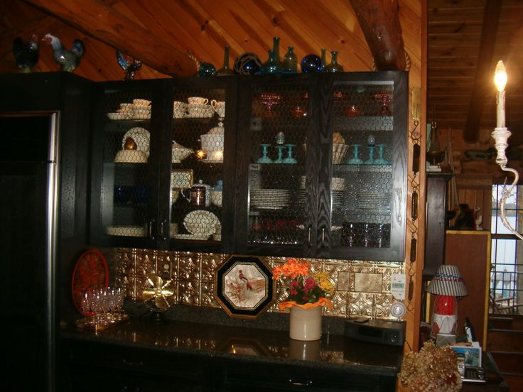 1000 images about log home on pinterest for Cabin kitchen backsplash ideas