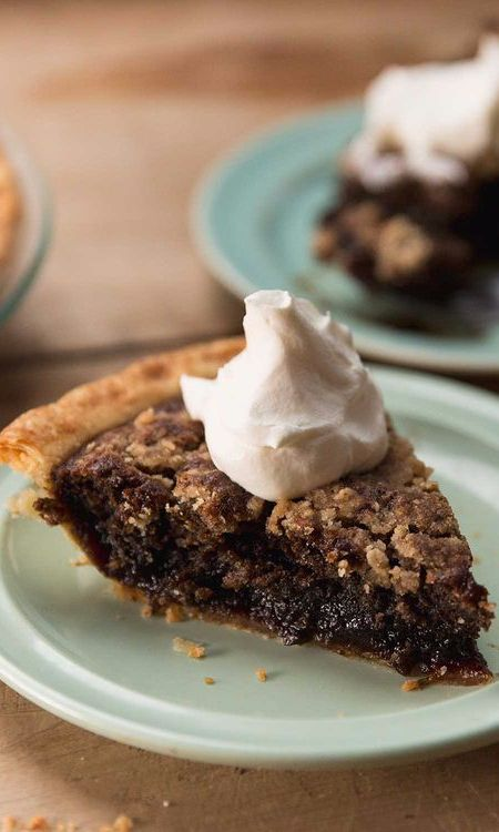 Shoofly pie—a molasses-filled, crumb-topped concoction from Pennsylvania Dutch country—was supposedly given its name because its shiny, sweet, and aromatic filling attracted flies that needed to be politely asked to leave.