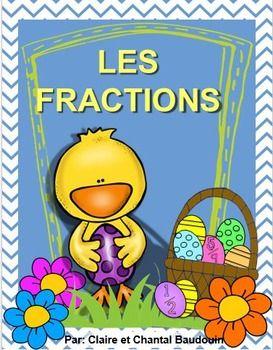 Ces activités vont permettre aux élèves de travailler les fractions. Voici un moyen amusant de pratiquer les fractions, durant la fête de Pâques!   Ci-inclus sont 10 pages d'activités, dont des exercices de découverte du sens des fractions, la représentation des fractions, l'écriture de fractions et la résolution de problème. Le corrigé des activités est également inclus dans ce produit afin de permettre à l'élève de s'autocorriger ou à titre de référence pour l'enseignante.