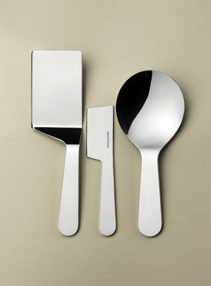 servine lifter, cheese knife, risotto spoon  'accento' by konstantin grcic for serafino zani