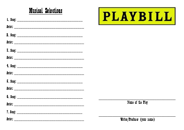 how to make a playbill