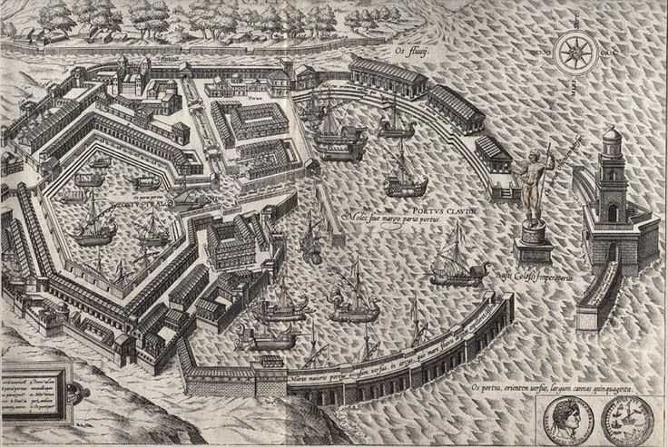 A 16th century depiction of Portus