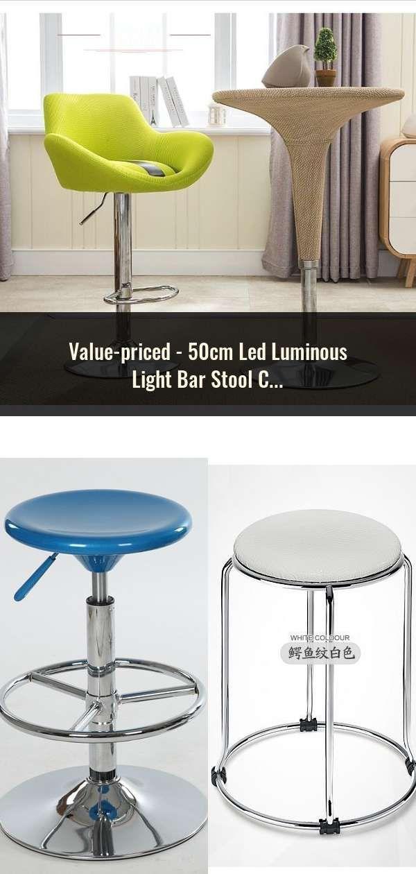 50cm Led Luminous Light Bar Stool Color