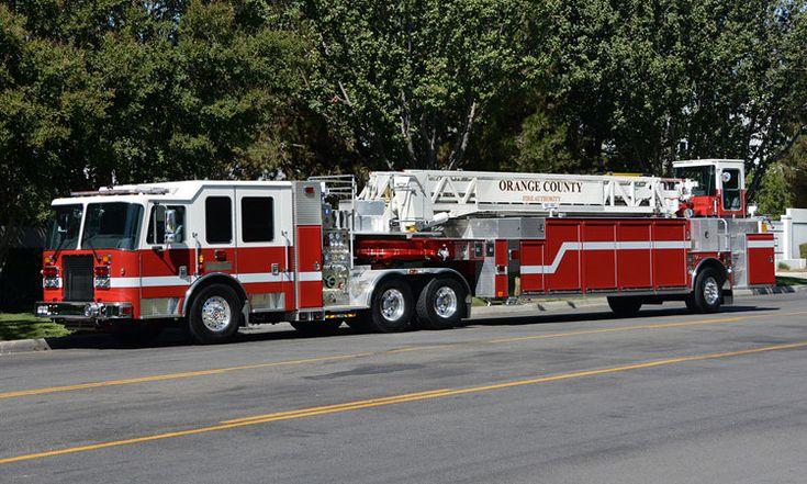 Orange County (CA) Fire Authority - #Aerial #Tiller #Firefighting #Rescue #Aparatus #Fire #Setcom