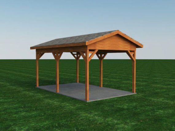 Carport Plans DIY Outdoor Canopy Car Shelter Gazebo Garage 12/'x20/' Build Your...