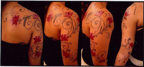 Feminine shoulder/sleeve tat......I THINK I FOUND THE ONE! :-)
