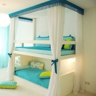Gorgeous bunk bed for your child's bedroom...