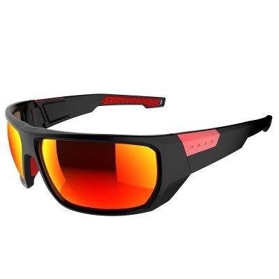 Multisport_Optik_Sonnenbrillen Wandern, Trekking - Sonnenbrille Sportbrille Azuma Kat. 4 schwarz/rot ORAO - Wanderzubehör