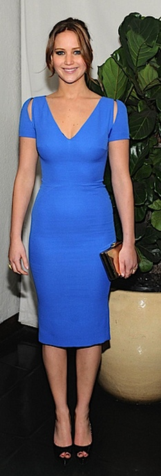 Jennifer Lawrence in Victoria Beckham Collection