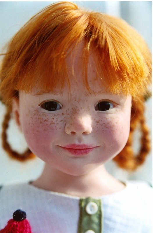 "24"" polymer clay Clémentine doll, one-of-a-kind portrait piece, France, 2001, by…"