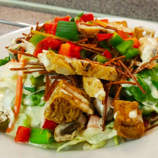 Asian Chicken and Tofu Salad with Miso Sesame Vinaigrette by Fresh ...