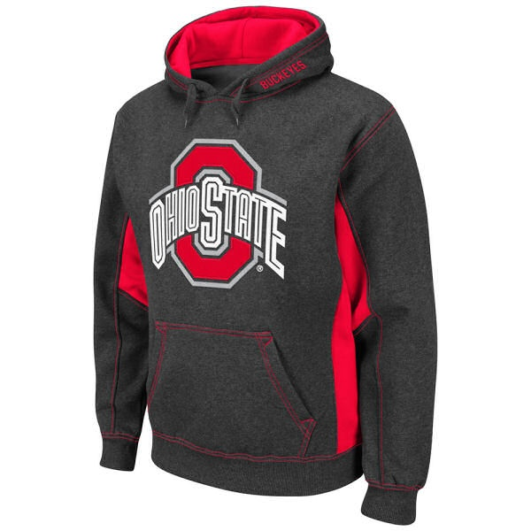 Ohio State Buckeyes Men's Charcoal Turf Fleece Pullover Hoodie