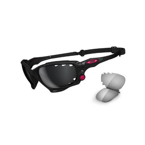Whether running, road racing, mountain biking or doing any kind of sport at speed, the Men's Oakley Racing Jacket Sunglasses are a perfect fit. Constructed with Oakley Switchlock technology, which allows you to be able to make quick and easy lens changes depending on the lighting, these ultra-lightweight and highly durable performance sunglasses have all the right features to keep you in the zone. And...