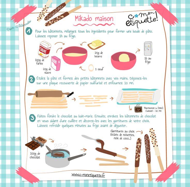 Savourez de délicieux petits Mikado faits maison. Une recette très simple à déguster en famille !