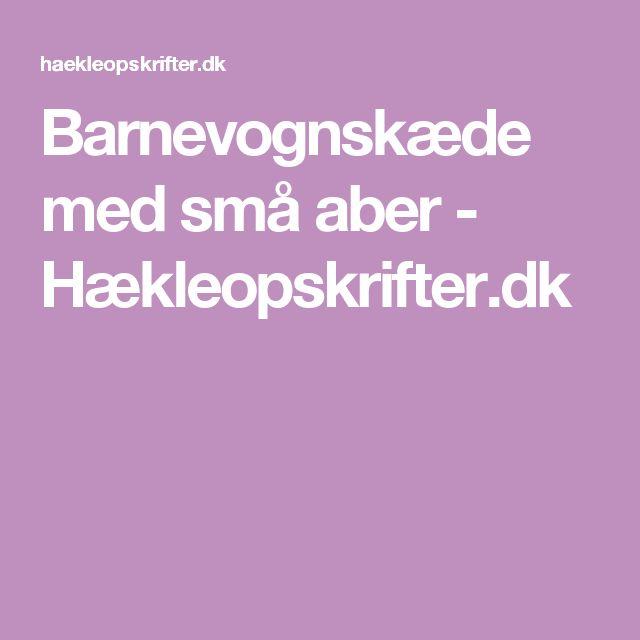 Barnevognskæde med små aber - Hækleopskrifter.dk