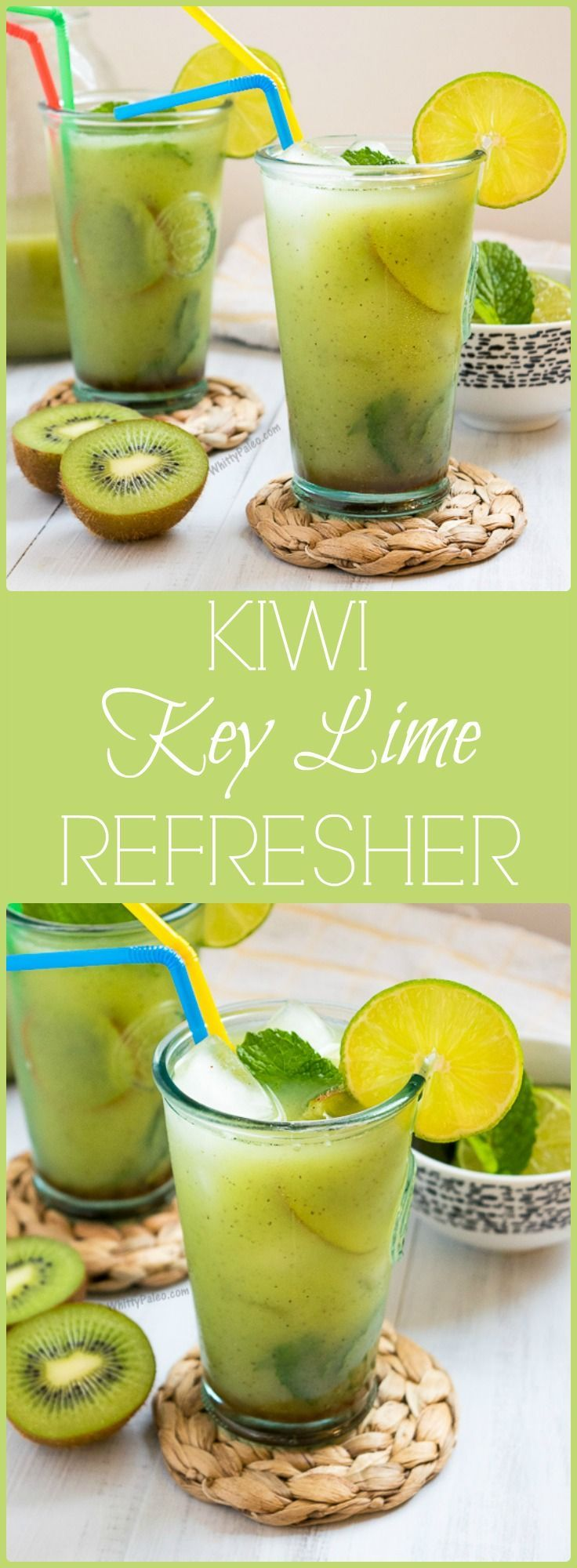 Healthy Cool Kiwi Key Lime Cucumber Refresher from WhittyPaleo.com