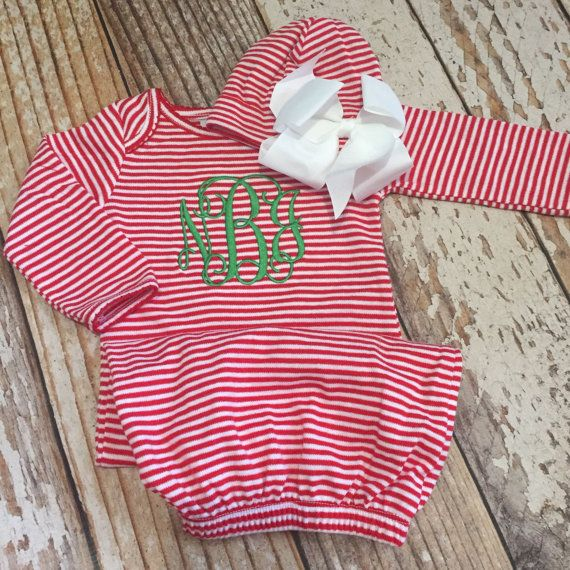 Baby Christmas outfit Newborn Christmas Pajamas by skkilby21