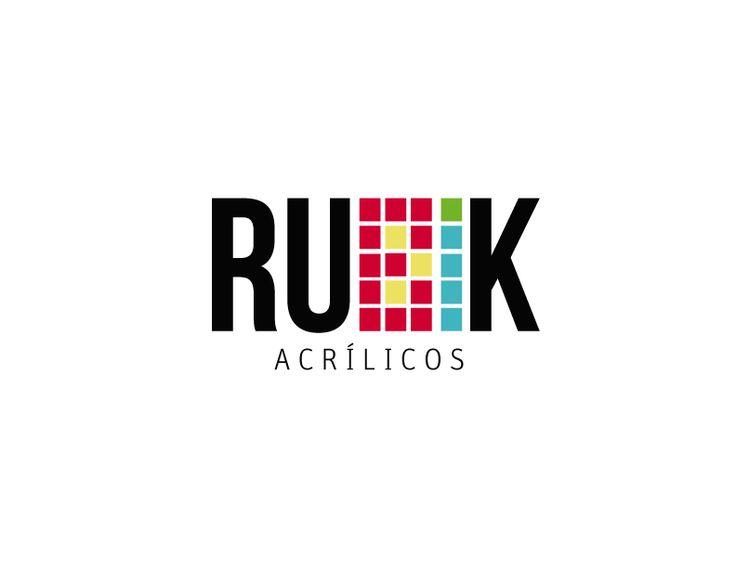 Isologo 'Rubik' para empresa de acrílicos, Diseño Corporativo.