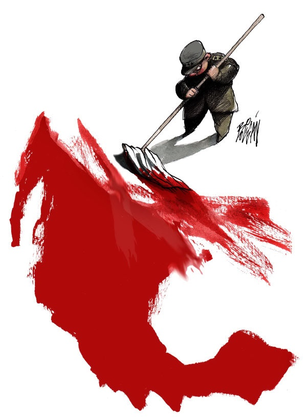 Bloody Mexico By Angel Boligan Political Cartoon